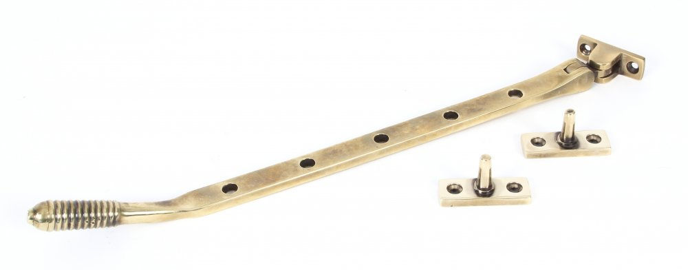 """Aged Brass 12"""" Reeded Stay image"""