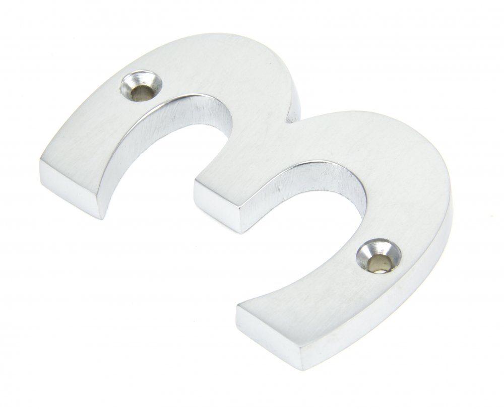 Satin Chrome Numeral No '3' image