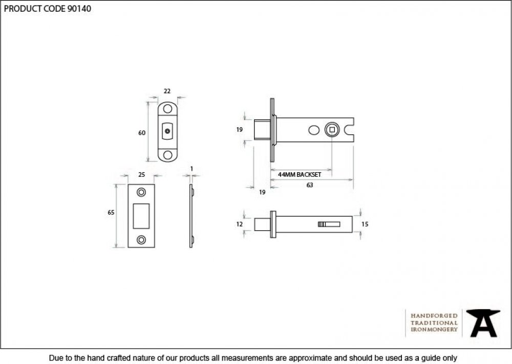 Brass 2'' Heavy Duty Tubular Deadbolt image