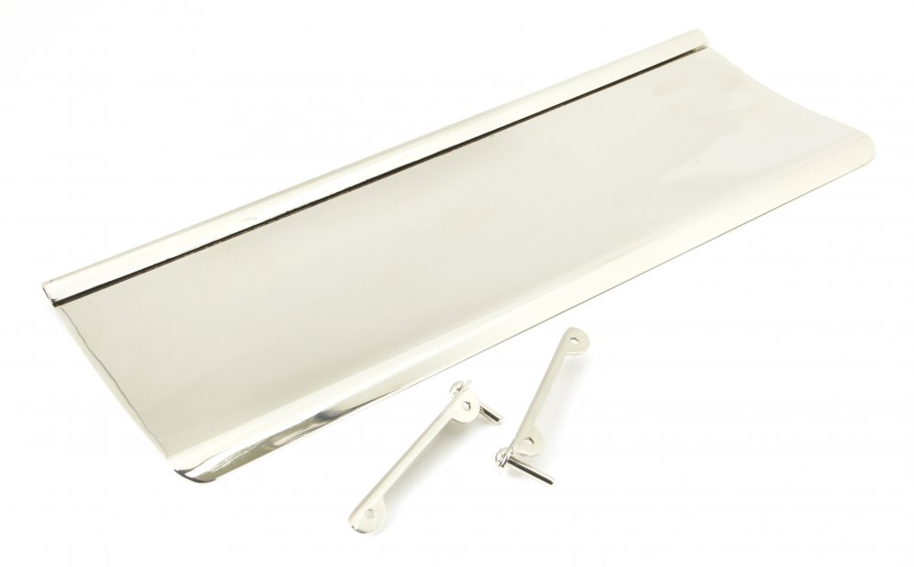 Polished Nickel Letterplate Cover - Large image