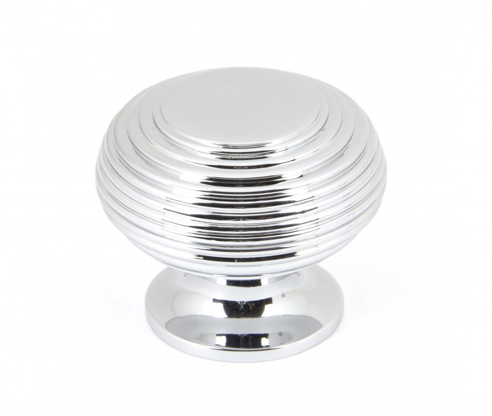 Polished Chrome Beehive Cabinet Knob - Large image