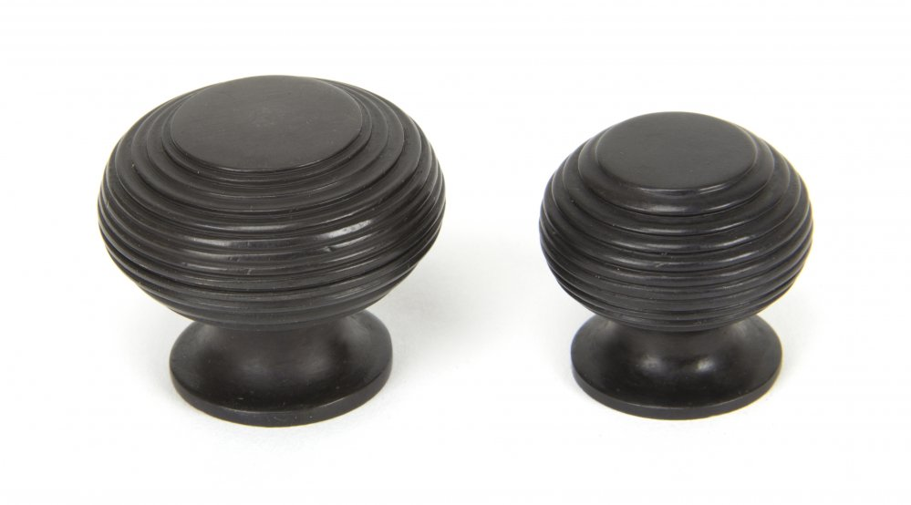 Aged Bronze Beehive Cabinet Knob - Large image