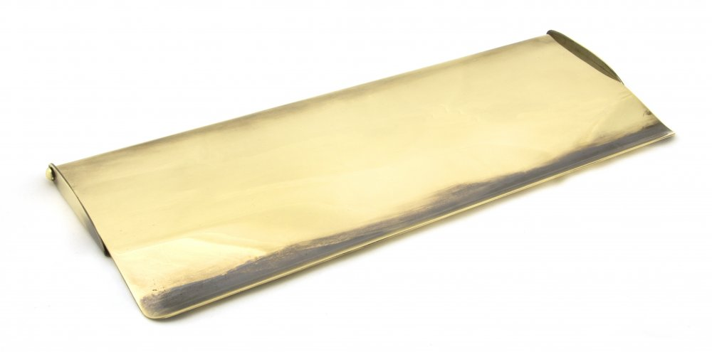 Aged Brass Large Letter Plate Cover image