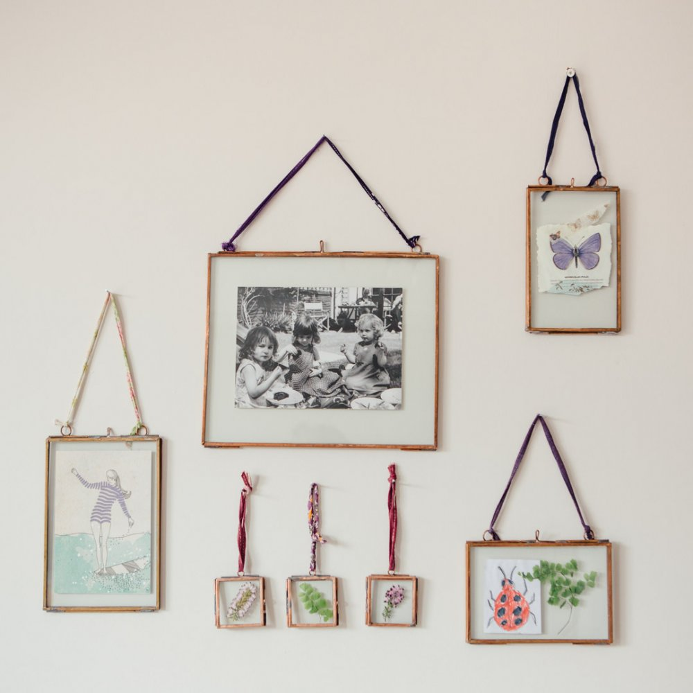 copper glass display frames