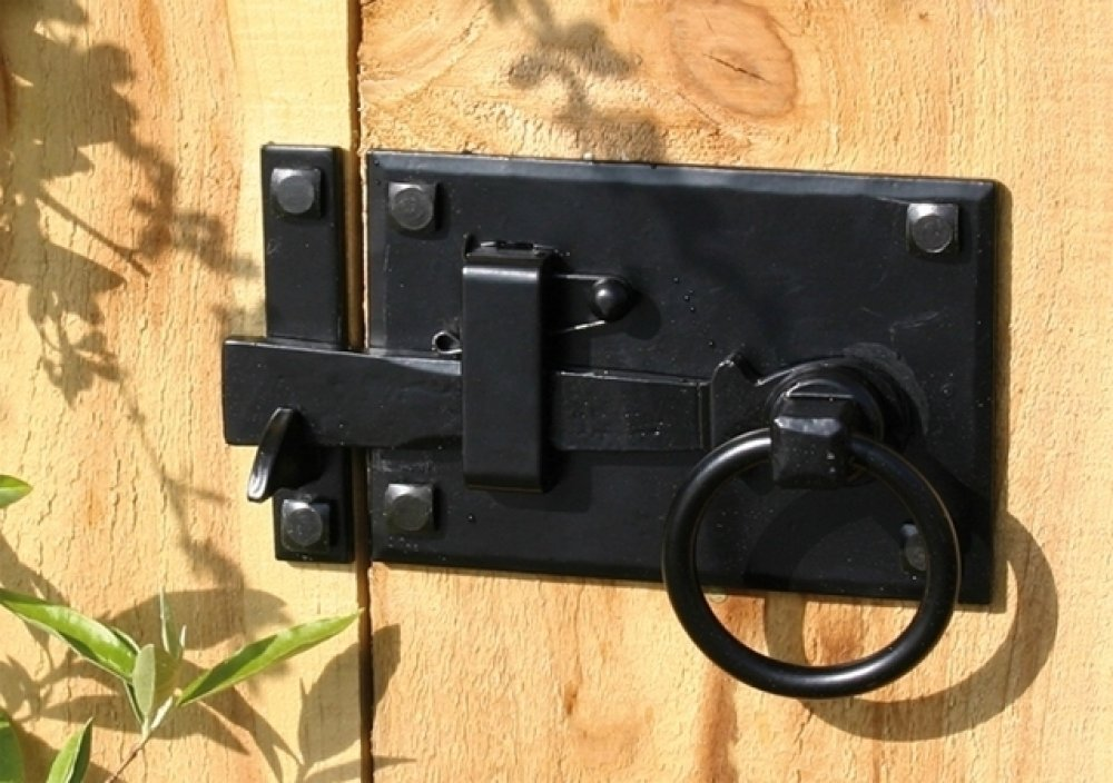 Black Cottage Latch - RH image