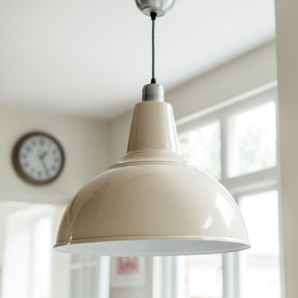 Large Kitchen Pendant Light In Cream