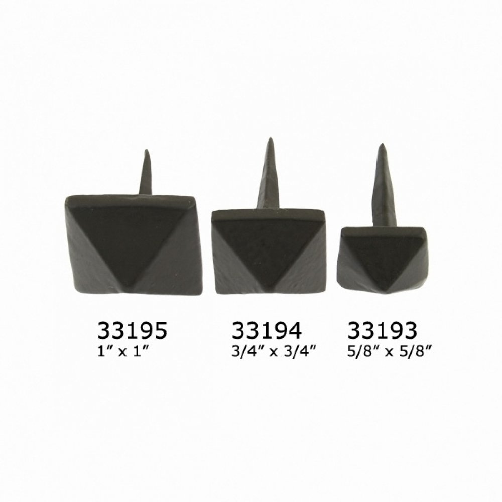 Black Pyramid Door Stud - Medium image
