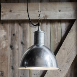 St Ives Galvanised Bay Outdoor Pendant Light