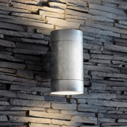 St Ives Galvanised Up & Down Light - Large save 15%
