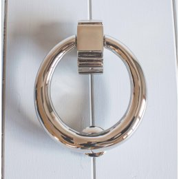 Hoop Door Knocker- Polished Nickel
