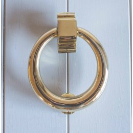 Hoop Door Knocker - Brass