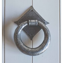 Ring Hand Forged Knocker- Pewter save 40%