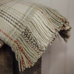 Sage Check Throw - Pure New Wool save 35%