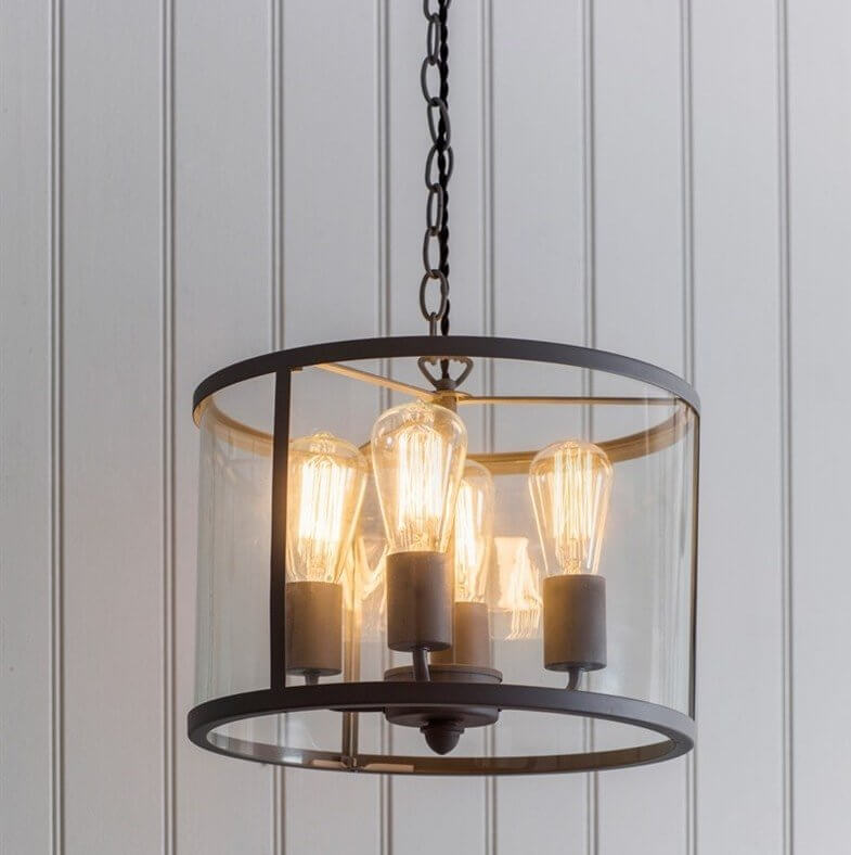 Cadogan 4 Bulb Pendant Light - Charcoal