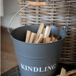 Kindling Bucket  - Charcoal - ONLY ONE REMAINING