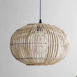 Bamboo Pendant Lightshade - Extra Large save 20%