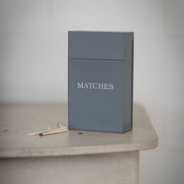 Matches Box - Charcoal