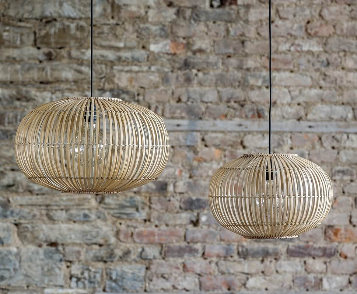Bamboo Pendant Light Shade - save 20%