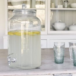 Glass Drinks Dispenser With Tap