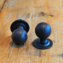 Round Forged Cabinet Knob- Black