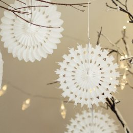 Paper Cut Christmas Snow Flakes - 40cm Dia SAVE 60%