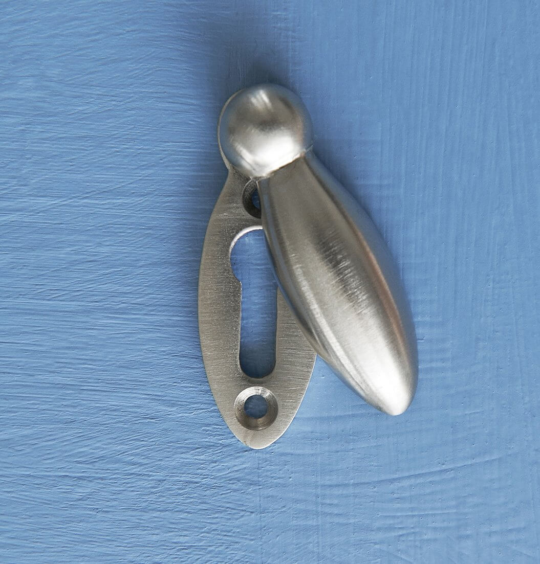 Peardrop Escutcheon - Satin Nickel