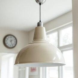 Large Kitchen Pendant Light - Cream