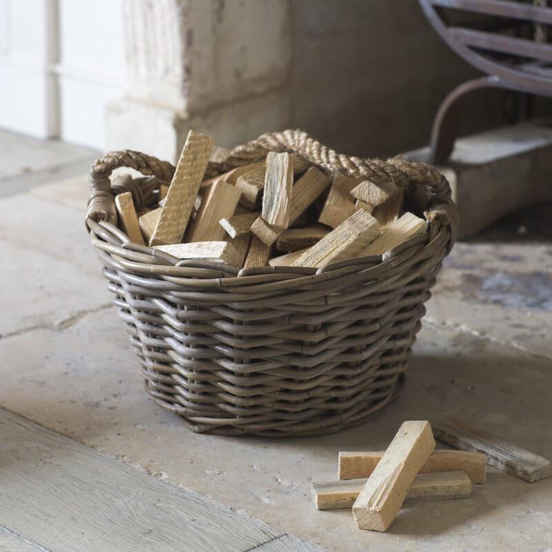 Round Kindling Basket