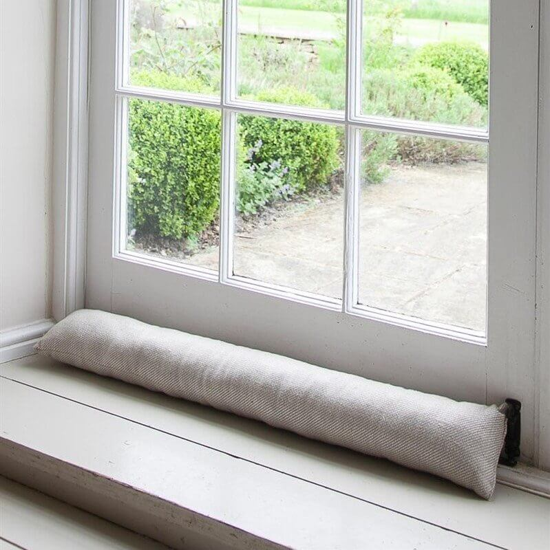Linen Draught Excluder - Natural