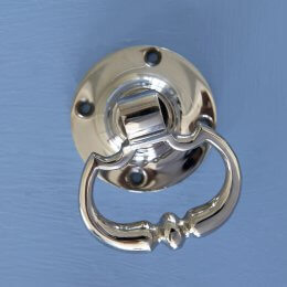 Dutch Drop Ring Door Handles - Nickel