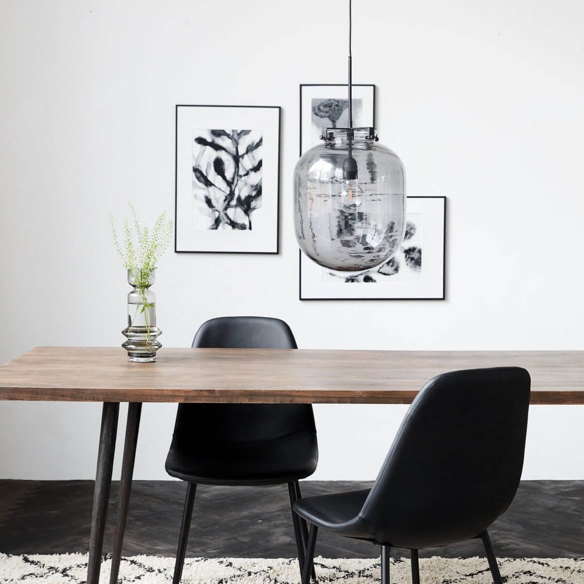 Grey Glass Pendant Light - save 25%