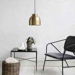 Brass Bowl Pendant Light - Small