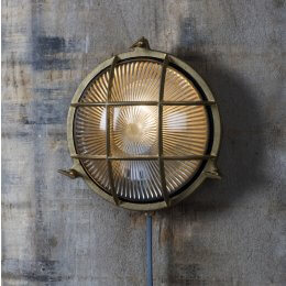 Brass Bulk Head Light Round