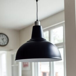 Large Kitchen Pendant Light - Black save 60%