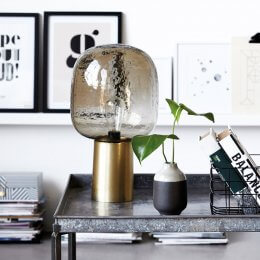 Glass Globe Table Lamp - save 25%