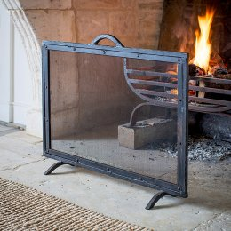 Large Rectangular Firescreen - Wrought Iron