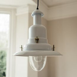 Fishing Pendant Light Large - White save 20%