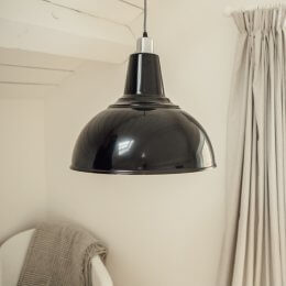 Large Kitchen Pendant Light - Black Gloss save 40%