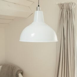 Large Kitchen Pendant Light - White save 30%