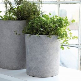 Concrete Planters With Water Tray