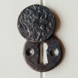Circular Forged Covered Escutcheon - Black SAVE 25% - Only Four Left In Stock