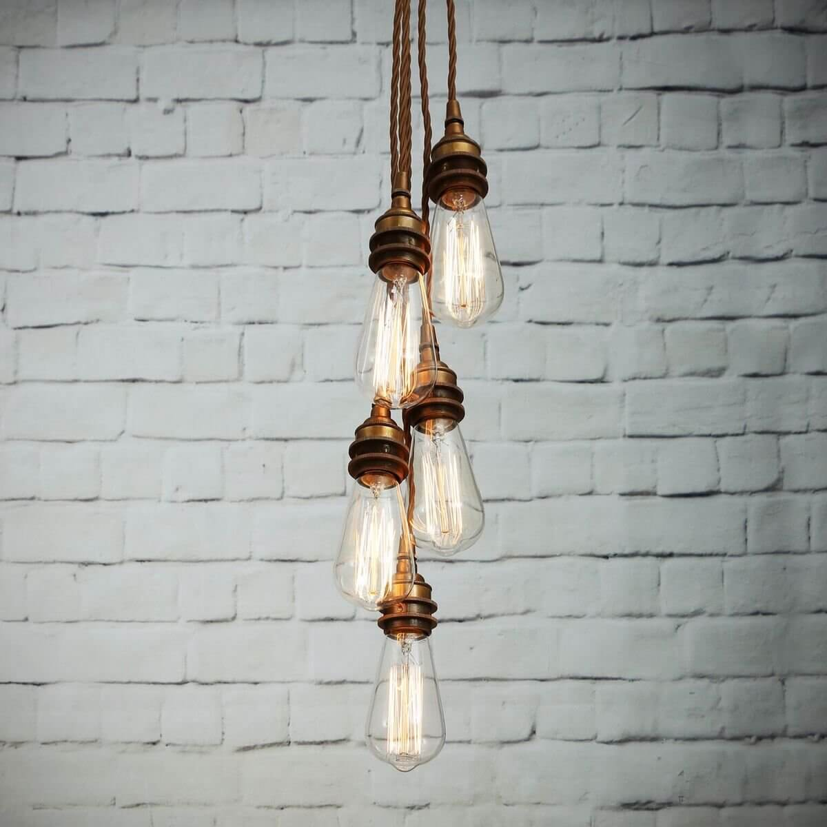 cluster pendant lighting. Industrial Cluster Pendant Light Lighting