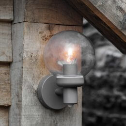 Aldgate PIR Outside Wall Light - Charcoal
