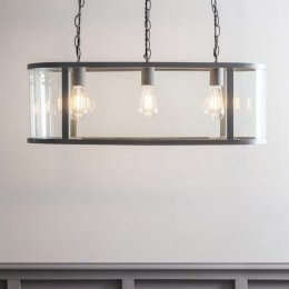 Cadogan 3 Bulb Pendant Light - Charcoal