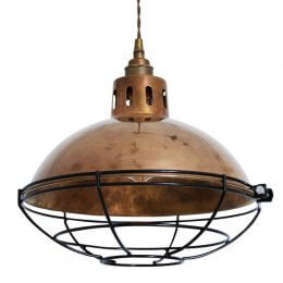 Factory Pendant Light With Cage - SAVE 20%
