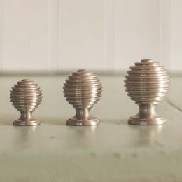 Reeded Cabinet Knob - Satin Nickel