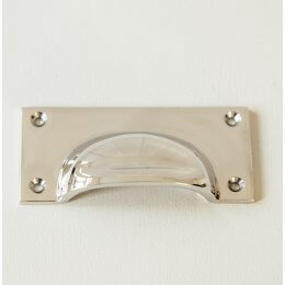 Cast Drawer Pull (Large) - Polished Nickel