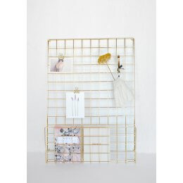 Mesh Noticeboard - Gold
