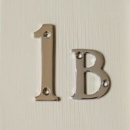 House Letter 'A' 'B' - Nickel