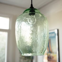 Hanging Green Glass Pendant Light